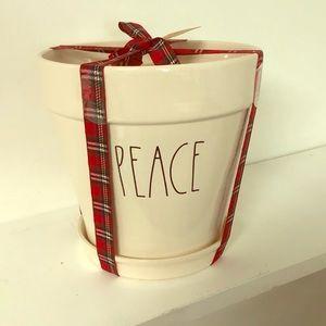 Rae Dunn peace planter